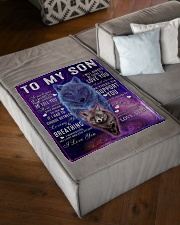 """FBC10045 - Wolf To My Son Small Fleece Blanket - 30"""" x 40"""" aos-coral-fleece-blanket-30x40-lifestyle-front-03"""