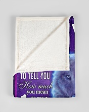 """FBC10045 - Wolf To My Son Small Fleece Blanket - 30"""" x 40"""" aos-coral-fleece-blanket-30x40-lifestyle-front-17"""