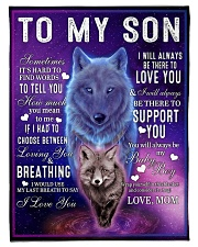 """FBC10045 - Wolf To My Son Small Fleece Blanket - 30"""" x 40"""" front"""