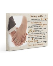 CV10001-2 - To My Wife Forever Always Gallery Wrapped Canvas Prints tile