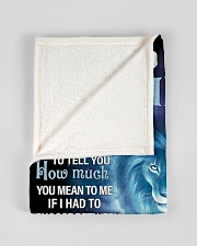 """FBC10007N - To My Mia Lion Dad Letter Small Fleece Blanket - 30"""" x 40"""" aos-coral-fleece-blanket-30x40-lifestyle-front-17"""