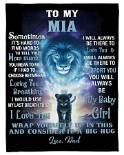 """FBC10007N - To My Mia Lion Dad Letter Small Fleece Blanket - 30"""" x 40"""" front"""