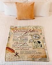 "BL10010 - Beloved Daughter Vintage Mom Letter Small Fleece Blanket - 30"" x 40"" aos-coral-fleece-blanket-30x40-lifestyle-front-04"