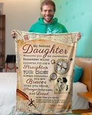 "BL10010 - Beloved Daughter Vintage Mom Letter Small Fleece Blanket - 30"" x 40"" aos-coral-fleece-blanket-30x40-lifestyle-front-09"