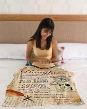 "BL10010 - Beloved Daughter Vintage Mom Letter Small Fleece Blanket - 30"" x 40"" aos-coral-fleece-blanket-30x40-lifestyle-front-12"