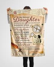 "BL10010 - Beloved Daughter Vintage Mom Letter Small Fleece Blanket - 30"" x 40"" aos-coral-fleece-blanket-30x40-lifestyle-front-14"