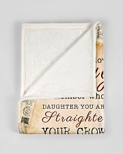 "BL10010 - Beloved Daughter Vintage Mom Letter Small Fleece Blanket - 30"" x 40"" aos-coral-fleece-blanket-30x40-lifestyle-front-17"