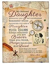 """BL10010 - Beloved Daughter Vintage Mom Letter Small Fleece Blanket - 30"""" x 40"""" front"""