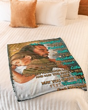 """JES10053BL -  A Prayer For Daughter Small Fleece Blanket - 30"""" x 40"""" aos-coral-fleece-blanket-30x40-lifestyle-front-01"""