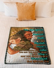"""JES10053BL -  A Prayer For Daughter Small Fleece Blanket - 30"""" x 40"""" aos-coral-fleece-blanket-30x40-lifestyle-front-04"""