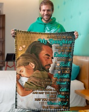 """JES10053BL -  A Prayer For Daughter Small Fleece Blanket - 30"""" x 40"""" aos-coral-fleece-blanket-30x40-lifestyle-front-09"""