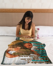"""JES10053BL -  A Prayer For Daughter Small Fleece Blanket - 30"""" x 40"""" aos-coral-fleece-blanket-30x40-lifestyle-front-12"""