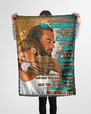 """JES10053BL -  A Prayer For Daughter Small Fleece Blanket - 30"""" x 40"""" aos-coral-fleece-blanket-30x40-lifestyle-front-14"""