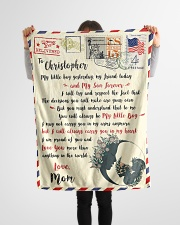 """FBL10072A To Christopher Mom Letter Family Small Fleece Blanket - 30"""" x 40"""" aos-coral-fleece-blanket-30x40-lifestyle-front-14"""