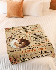 """BL10068 - To My Wife Once Upon A Time Small Fleece Blanket - 30"""" x 40"""" aos-coral-fleece-blanket-30x40-lifestyle-front-01"""