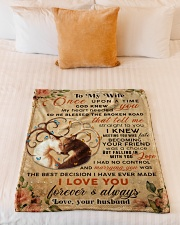 """BL10068 - To My Wife Once Upon A Time Small Fleece Blanket - 30"""" x 40"""" aos-coral-fleece-blanket-30x40-lifestyle-front-04"""