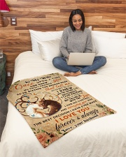 """BL10068 - To My Wife Once Upon A Time Small Fleece Blanket - 30"""" x 40"""" aos-coral-fleece-blanket-30x40-lifestyle-front-08"""