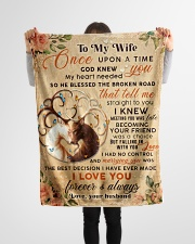 """BL10068 - To My Wife Once Upon A Time Small Fleece Blanket - 30"""" x 40"""" aos-coral-fleece-blanket-30x40-lifestyle-front-14"""