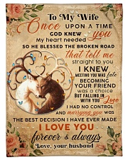 """BL10068 - To My Wife Once Upon A Time Small Fleece Blanket - 30"""" x 40"""" front"""
