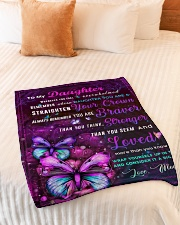 """BL10034P - To My Daughter Butterfly - Personalized Small Fleece Blanket - 30"""" x 40"""" aos-coral-fleece-blanket-30x40-lifestyle-front-01"""