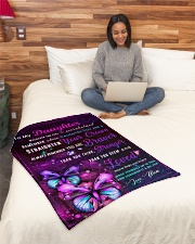 """BL10034P - To My Daughter Butterfly - Personalized Small Fleece Blanket - 30"""" x 40"""" aos-coral-fleece-blanket-30x40-lifestyle-front-08"""
