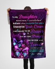 """BL10034P - To My Daughter Butterfly - Personalized Small Fleece Blanket - 30"""" x 40"""" aos-coral-fleece-blanket-30x40-lifestyle-front-14"""