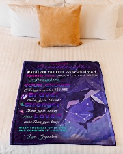 """BL10033 - Beloved Granddaughter Whale Night Small Fleece Blanket - 30"""" x 40"""" aos-coral-fleece-blanket-30x40-lifestyle-front-04"""