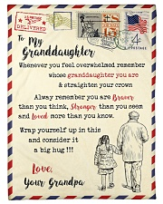 """FBL10066 To My Granddaughter Letter Family Small Fleece Blanket - 30"""" x 40"""" front"""