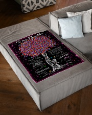 """FBC10017 - Daughter Tree Colors Small Fleece Blanket - 30"""" x 40"""" aos-coral-fleece-blanket-30x40-lifestyle-front-03"""