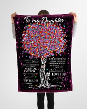 """FBC10017 - Daughter Tree Colors Small Fleece Blanket - 30"""" x 40"""" aos-coral-fleece-blanket-30x40-lifestyle-front-14"""