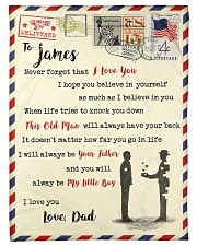 """FBL10013B - To James Dad Letter Family Small Fleece Blanket - 30"""" x 40"""" front"""