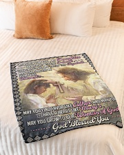 """JES10057BL -  A Prayer For Daughter Small Fleece Blanket - 30"""" x 40"""" aos-coral-fleece-blanket-30x40-lifestyle-front-01"""
