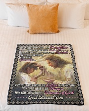 """JES10057BL -  A Prayer For Daughter Small Fleece Blanket - 30"""" x 40"""" aos-coral-fleece-blanket-30x40-lifestyle-front-04"""