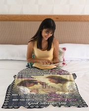 """JES10057BL -  A Prayer For Daughter Small Fleece Blanket - 30"""" x 40"""" aos-coral-fleece-blanket-30x40-lifestyle-front-12"""