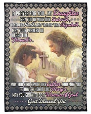 """JES10057BL -  A Prayer For Daughter Small Fleece Blanket - 30"""" x 40"""" front"""