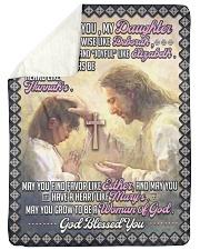 JES10057BL -  A Prayer For Daughter Sherpa Fleece Blanket tile