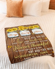 """FAM10124BL - To My Loving Mom Forever Thankful Small Fleece Blanket - 30"""" x 40"""" aos-coral-fleece-blanket-30x40-lifestyle-front-01"""