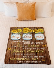 """FAM10124BL - To My Loving Mom Forever Thankful Small Fleece Blanket - 30"""" x 40"""" aos-coral-fleece-blanket-30x40-lifestyle-front-04"""