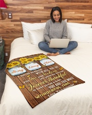 """FAM10124BL - To My Loving Mom Forever Thankful Small Fleece Blanket - 30"""" x 40"""" aos-coral-fleece-blanket-30x40-lifestyle-front-08"""