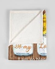 """FAM10124BL - To My Loving Mom Forever Thankful Small Fleece Blanket - 30"""" x 40"""" aos-coral-fleece-blanket-30x40-lifestyle-front-17"""