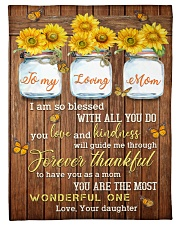 """FAM10124BL - To My Loving Mom Forever Thankful Small Fleece Blanket - 30"""" x 40"""" front"""