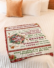 """BL10006 - Beloved Daughter Vintage Christmas Small Fleece Blanket - 30"""" x 40"""" aos-coral-fleece-blanket-30x40-lifestyle-front-01"""
