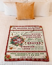 """BL10006 - Beloved Daughter Vintage Christmas Small Fleece Blanket - 30"""" x 40"""" aos-coral-fleece-blanket-30x40-lifestyle-front-04"""