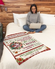 """BL10006 - Beloved Daughter Vintage Christmas Small Fleece Blanket - 30"""" x 40"""" aos-coral-fleece-blanket-30x40-lifestyle-front-08"""