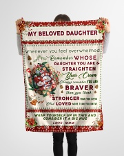 """BL10006 - Beloved Daughter Vintage Christmas Small Fleece Blanket - 30"""" x 40"""" aos-coral-fleece-blanket-30x40-lifestyle-front-14"""