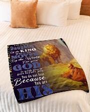 "JES10050BL - Jesus Christ  Small Fleece Blanket - 30"" x 40"" aos-coral-fleece-blanket-30x40-lifestyle-front-01"