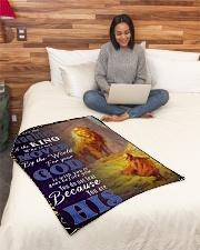 "JES10050BL - Jesus Christ  Small Fleece Blanket - 30"" x 40"" aos-coral-fleece-blanket-30x40-lifestyle-front-08"