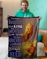 "JES10050BL - Jesus Christ  Small Fleece Blanket - 30"" x 40"" aos-coral-fleece-blanket-30x40-lifestyle-front-09"