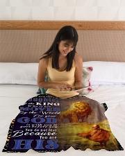 "JES10050BL - Jesus Christ  Small Fleece Blanket - 30"" x 40"" aos-coral-fleece-blanket-30x40-lifestyle-front-12"