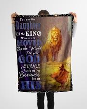 "JES10050BL - Jesus Christ  Small Fleece Blanket - 30"" x 40"" aos-coral-fleece-blanket-30x40-lifestyle-front-14"